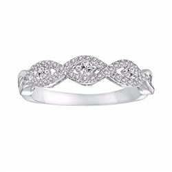14k White Gold 1/4-ct. T.W. Round-Cut Diamond Twist Wedding Band