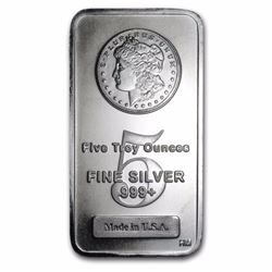 5 oz. Silver Bar - Morgan Design - Pure