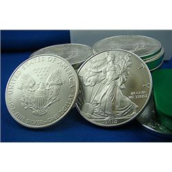 (20) Silver Eagles- 1 oz. US Bullion- Random