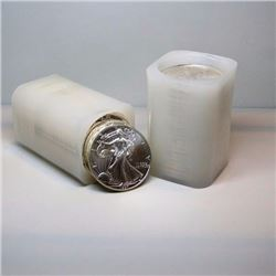 (2) Rolls 40 pcs. US Silver Eagles Mint Rolls