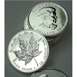 (10) Random Date Silver Maple Leaf's