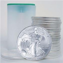 (20) US Mint Rolled Silver Eagles Random Date
