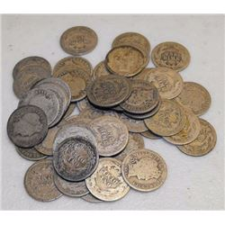 Lot of (50) Barber Dimes - Circulated