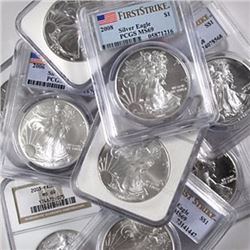 (10) MS 69 US Silver Eagles - NGC or PCGS