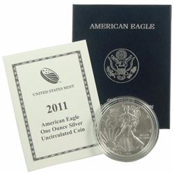 2011 US Silver Eagle Burnished - In Mint Case