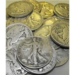 Lot of 15 Walking Liberty Halves- Various Dates