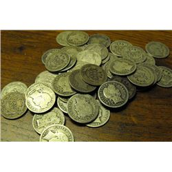 Lot of 50 Barber Dimes