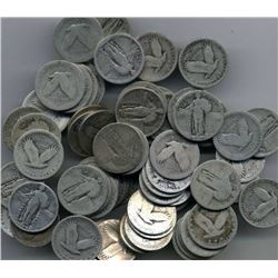 Silver Standing Liberty Quarters - 40 Coins