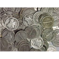 Lot of 100 Mercury Dime- Mixed Dates