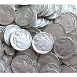 Lot of 50 Buffalo Nickels