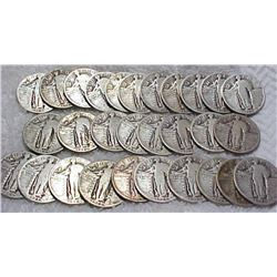 Lot of 40 Standing Liberty Quarters-