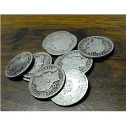 Lot of 10 Barber Dimes-