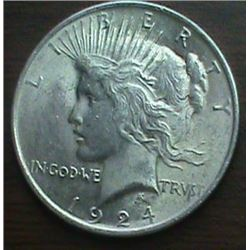 1924 Peace Dollar Uncirculated Condition