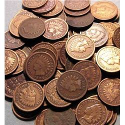 Lot of 100 Indian Head Pennies-