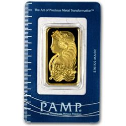 1 oz. Pamp Suisse on Assay Card