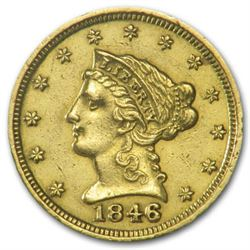 $2.5 Gold Liberty US Coin-