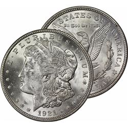 1921 P Bu Morgan Dollar Last Year Issue