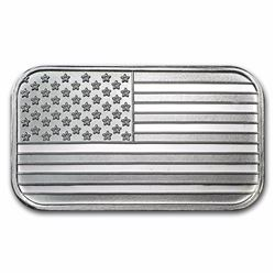 1 oz American Flag Design Silver Bar