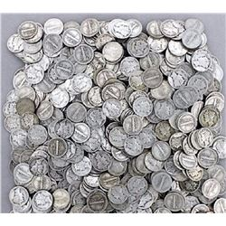 Lot of (300) Mercury Dimes -$30 Face -90% Silver