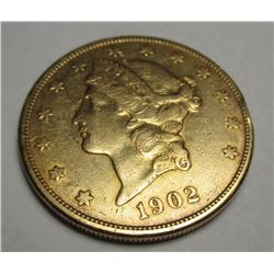 1902 S $20 Gold Liberty Double Eagle