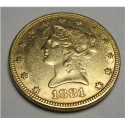 1881 P $10 TEN Gold Liberty Eagle