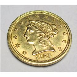 1856 $2.5 Gold Liberty Quarter Eagle Better Date