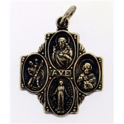 religious drop sterling silevr pendant
