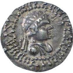 Very Rare Silver Tetra Drachma Coin King Hippostratos of Indo Greeks.