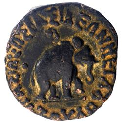 Copper Pentachalkon Coin of Azes II of Indo Scythian.