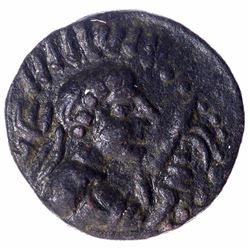 Copper Drachma coin of Vima Takto of Kushan Dynasty.