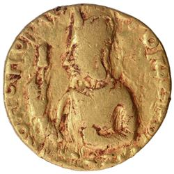 Very Rare Gold Dinar Coin of Huvishka of Kushan Dynasty