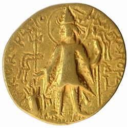 Rare Gold Dinar Coin of Kanishka II of Kushan Dynasty.