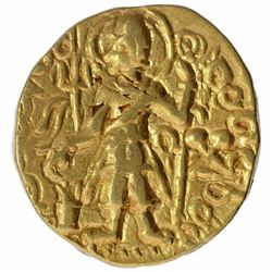 Very Rare Gold Dinar Coin of Magra of Kushan Dynasty.