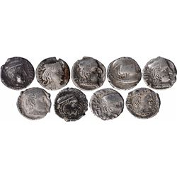 Silver Drachma Coins  of Different Rulers of Western Kshatrapas.