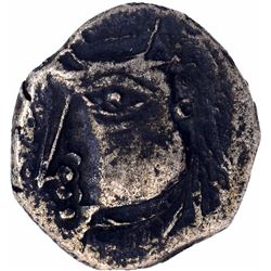Silver Drachma Coin of Harshavardhana of Post Guptas of Pushyabhuti Dynasty.