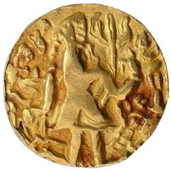 Gold Dinar Coin of Vira Jadamarah of Samatata Region of Post Guptas.