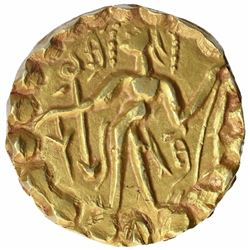 Gold Dinar Coin of Sridharana Rata of Post Guptas.