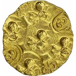 Punch Marked Gold Gadyana  Coin of Chalukyas of Kalyani.
