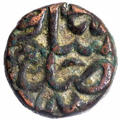 Copper Half Dam Coin of Akbar of Dogaon Mint.