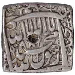 Silver Square Rupee Coin of Akbar of Patna Mint.