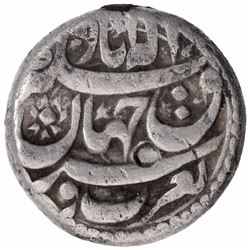 Silver One Rupee Coin of Akbar of Allahabad Mint.