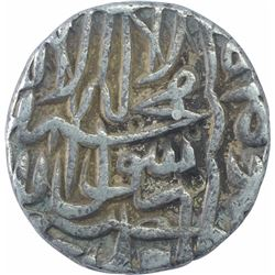 Silver One Rupee Coin of Akbar of Qila Alwar Mint.