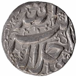 Silver One Rupee Coin of Akbar of Burhanpur Mint of Tir Month.