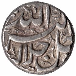 Silver One Rupee Coin of Akbar of Burhanpur Mint of Di Month.