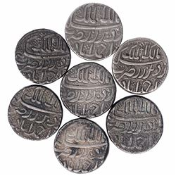 Silver One Rupee Coins of Jahangir Salim Shah of Ahmadabad Mint of Different Months.