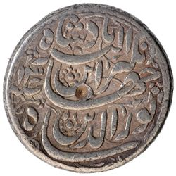Silver One Rupee Coin of Jahangir of Ahmadabad Mint of Azar Month.