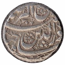 Silver One Rupee Coin of Jahangir of Sakht Noorani Type.