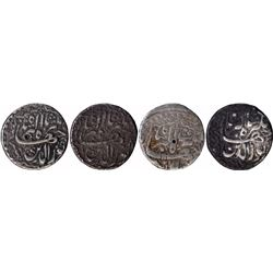 Rare Silver One Rupee Coins of Jahangir of Lahore Mint of Different Months.
