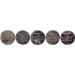 Silver One Rupee Coins of Jahangir of Ahmadabad Mint of Differnt Months.