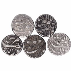 Silver One Rupee Coins of Jahangir of Tatta Mint of Different Months.